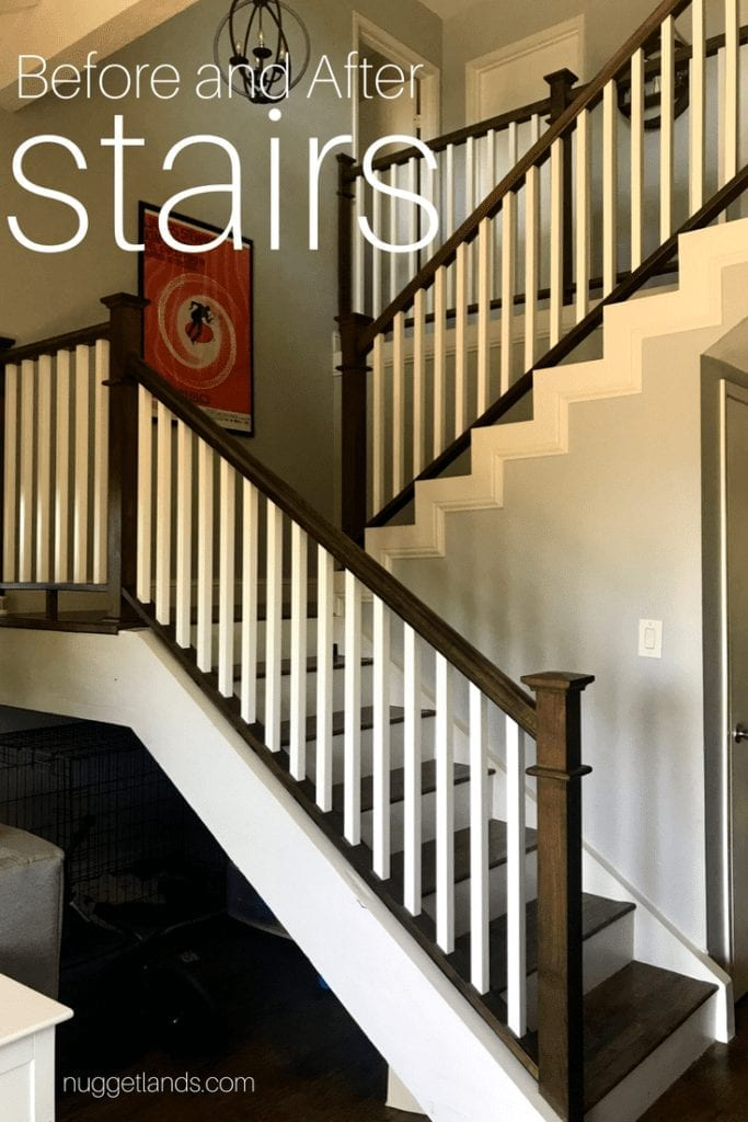 The after photo of our remodeled stairs.