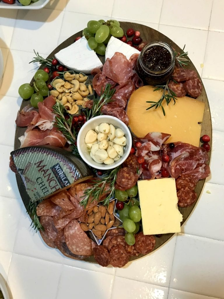 meat and cheese tray