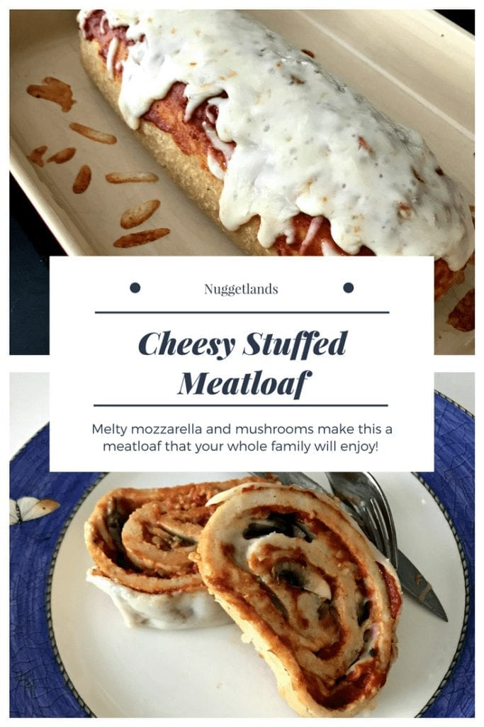 """Cheesy Stuffed Meatloaf pan"""" width=""""3024"""" height=""""4032"""" data-pin-description=""""Cheesy Stuffed Meatloaf is the ultimate comfort food. Made with either ground turkey or beef, and of course breadcrumbs, this meat loaf is a low carb option that the whole family will enjoy.#recipe#meatloaf#lowcarb#kidfriendly"""