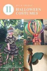 DIY halloween costumes that are unique for kids, for siblings and for girls. Fun and unique costumes that are easy DIY projects for your little trick or treater. Funny, clever and scary - even last minute ideas - there is something for everyone on this list. Click to see the round up. #halloween #costumes #diy #lastminute #easy #homemade