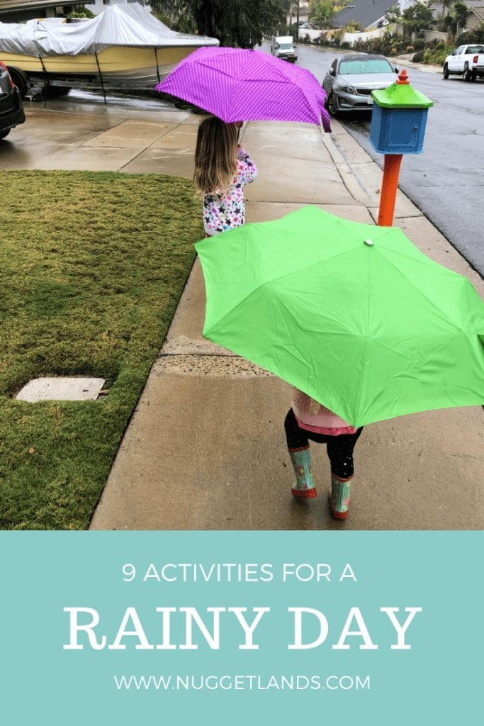 Things to do on a rainy day. Fun activities for kids of all ages from crafts to art to outings that can turn their gloomy day to awesome. #activities #crafts #rainyday